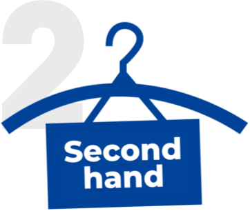 Steg 2 i avfallstrappan är att återanvända plast genom att köpa produkter second hand